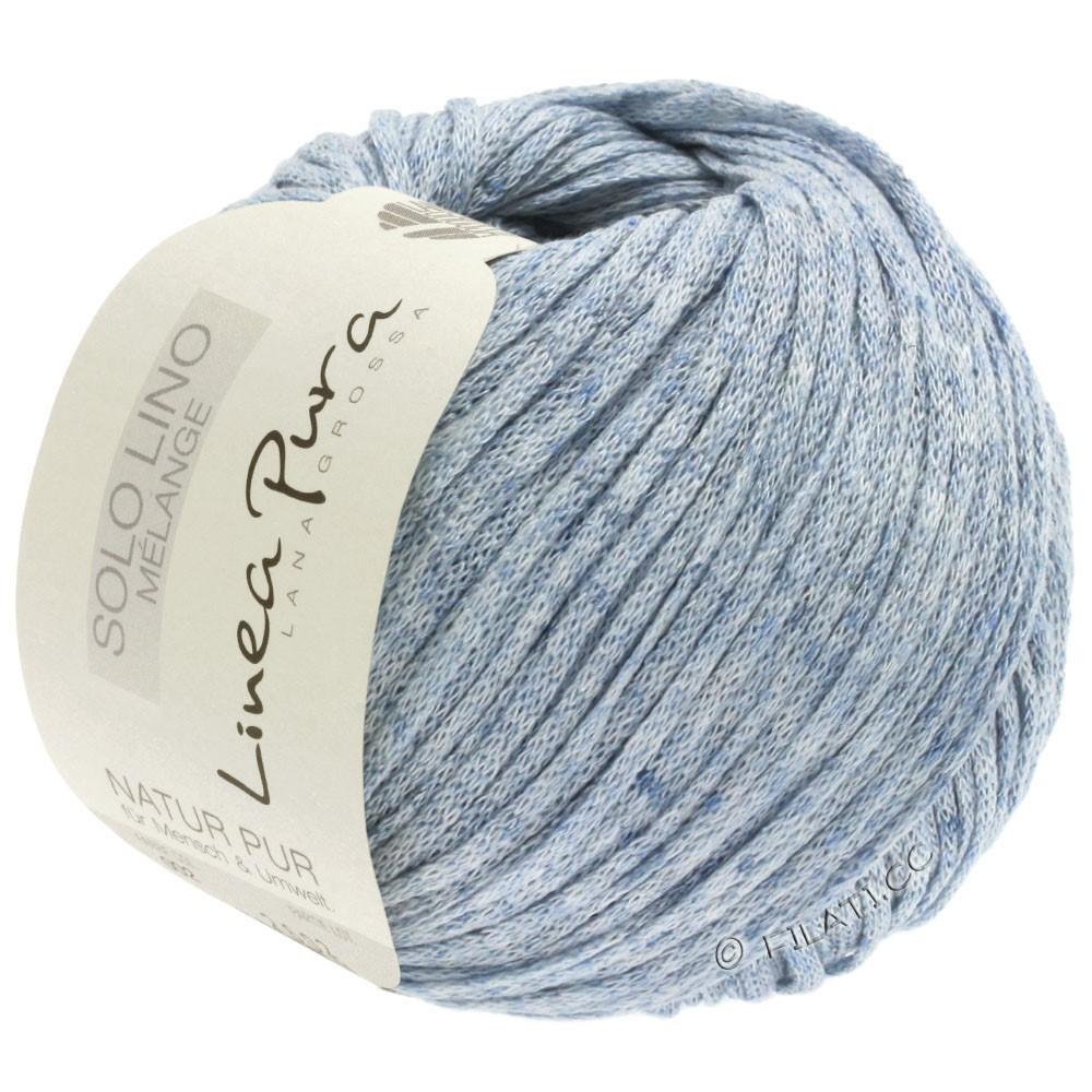 Lana Grossa SOLO LINO MELANGE (Linea Pura) | 108-pastel blue mottled