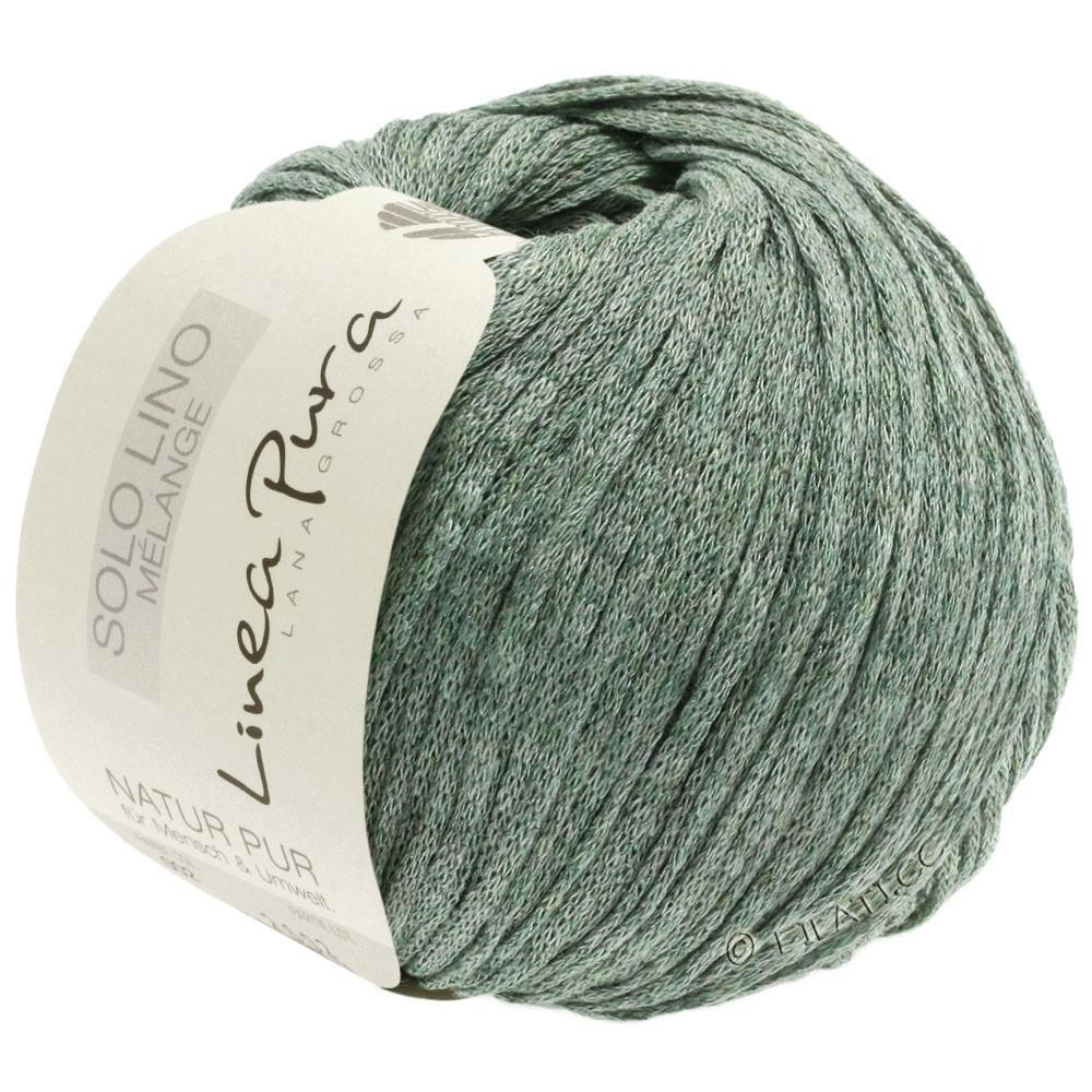 Lana Grossa SOLO LINO MELANGE (Linea Pura) | 109-gray green mottled