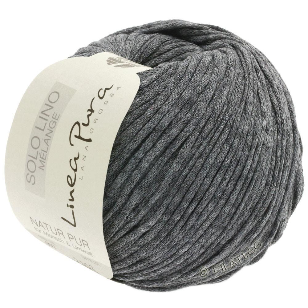 Lana Grossa SOLO LINO MELANGE (Linea Pura) | 111-dark gray mottled
