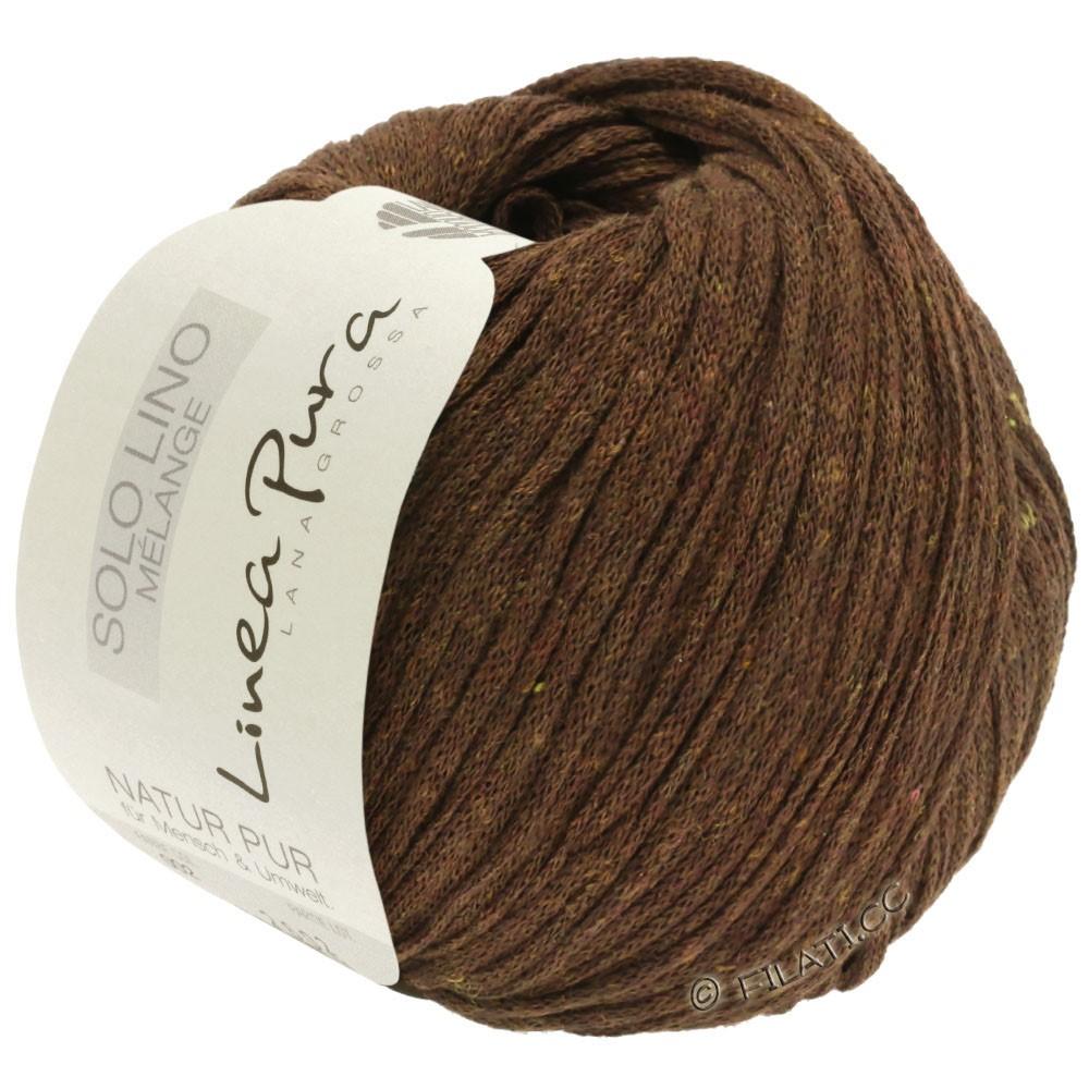 Lana Grossa SOLO LINO MELANGE (Linea Pura)   117-dark brown mottled