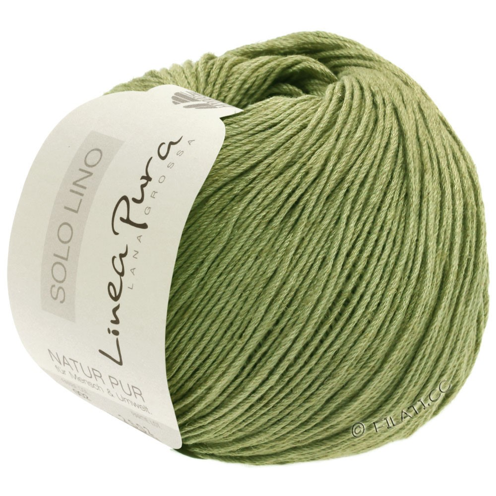 Lana Grossa SOLO LINO (Linea Pura) | 19-linden green