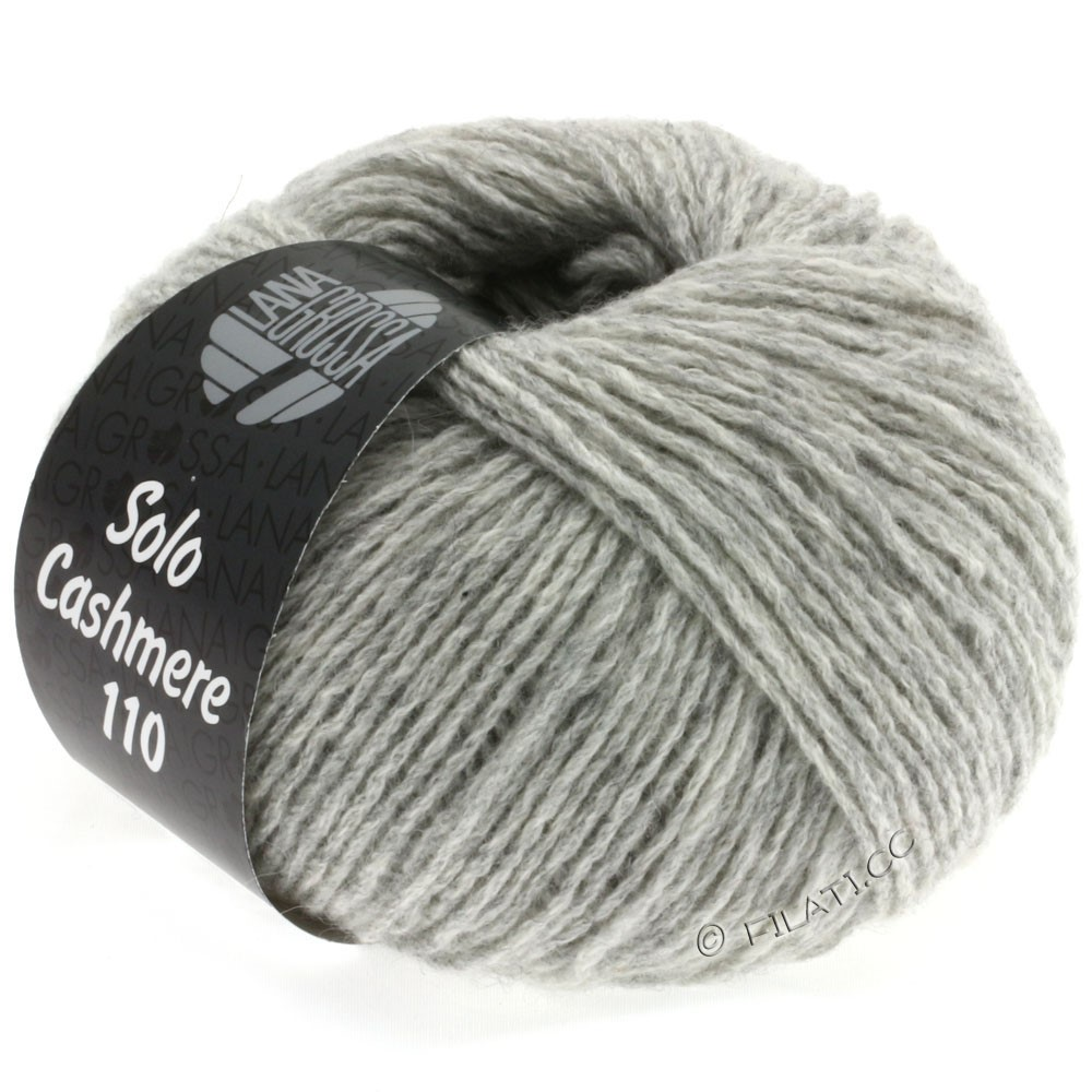 Lana Grossa SOLO CASHMERE 110 | 108-light gray mottled
