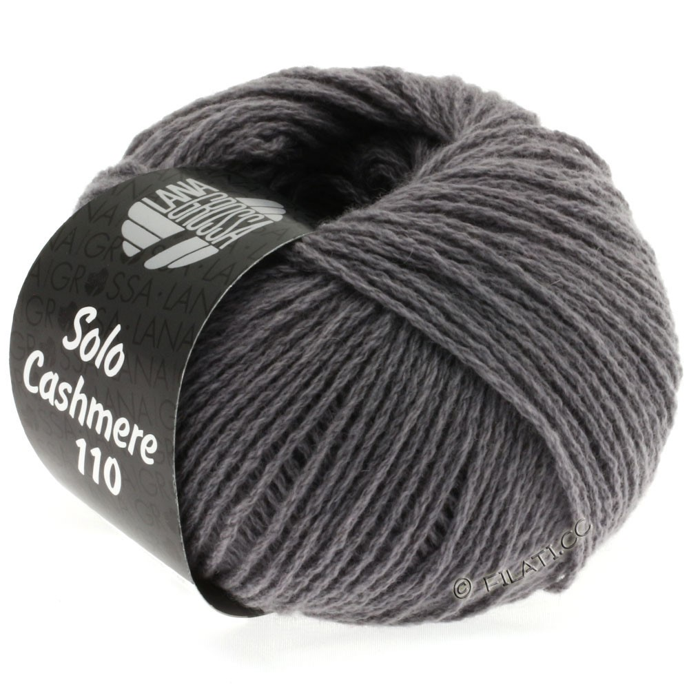 Lana Grossa SOLO CASHMERE 110 | 124-medium gray