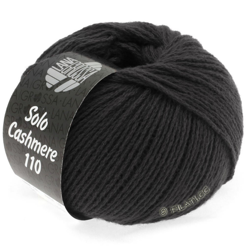 Lana Grossa SOLO CASHMERE 110 | 135-black brown