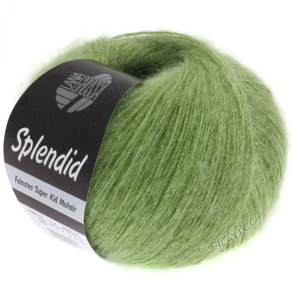 Lana Grossa SPLENDID | 09-light green/silver