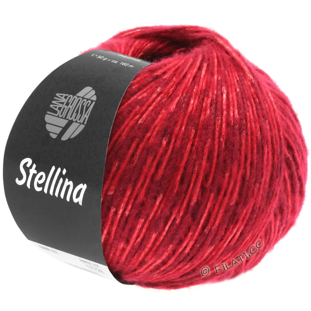 Lana Grossa STELLINA | 10-dark red/red