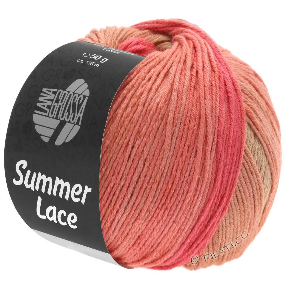 Lana Grossa SUMMER LACE DEGRADÉ | 105-peach/raspberry/sand