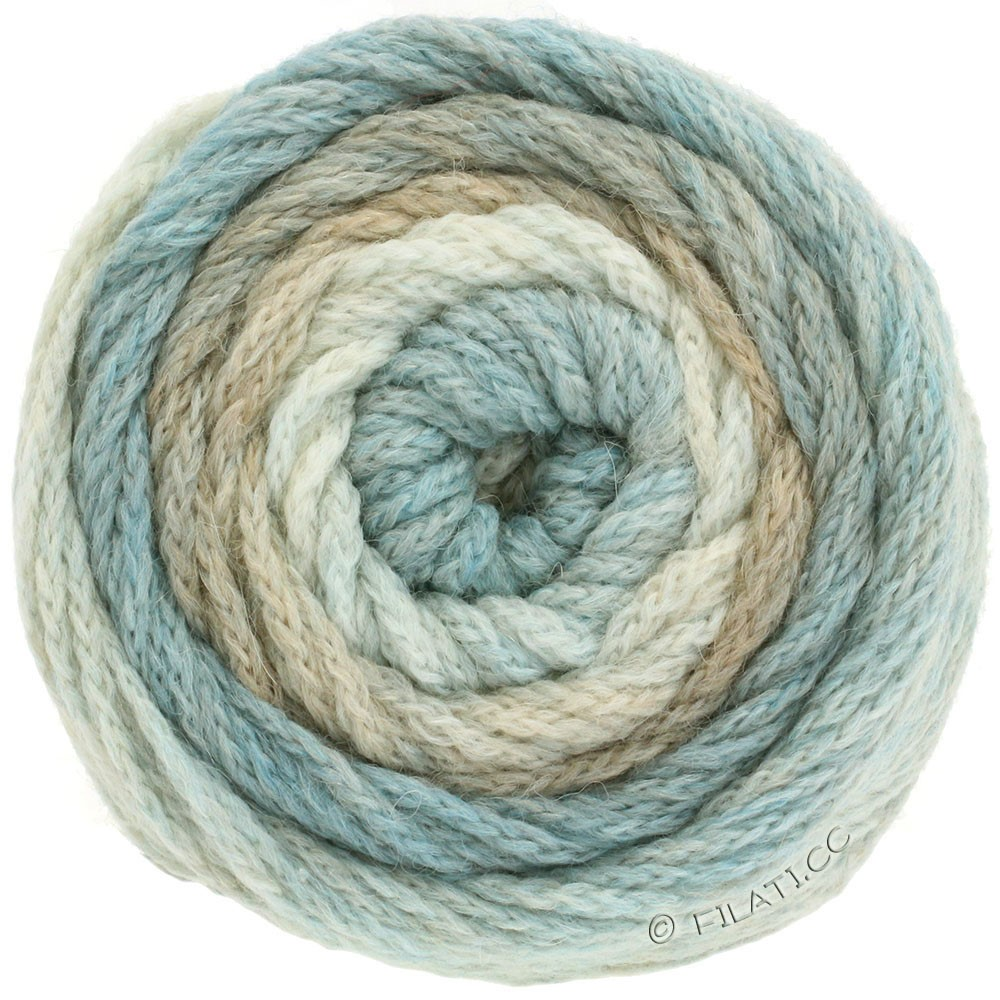 Lana Grossa SUPER COLOR | 101-natural/beige/light blue/beige blue
