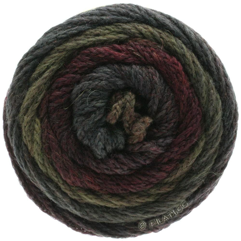 Lana Grossa SUPER COLOR | 114-black red/mud/anthracite