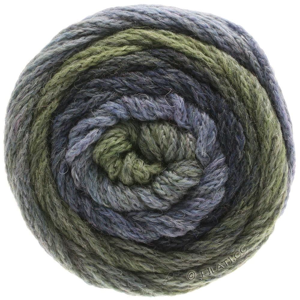 Lana Grossa SUPER COLOR | 115-light jeans/dark jeans/reseda green/dark gray