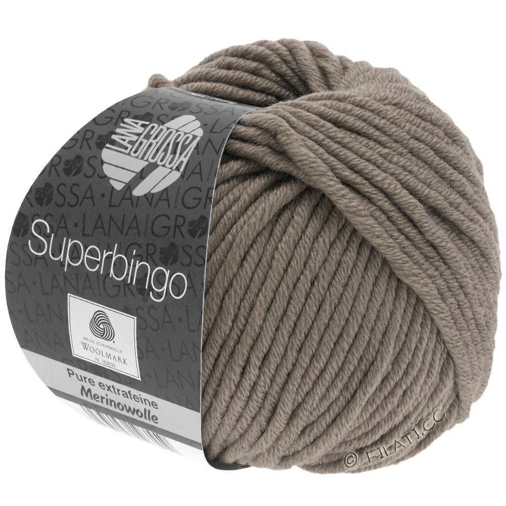 Lana Grossa SUPERBINGO uni/neon | 004-gray brown