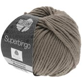 Lana Grossa SUPERBINGO uni/neon | 004-grey brown