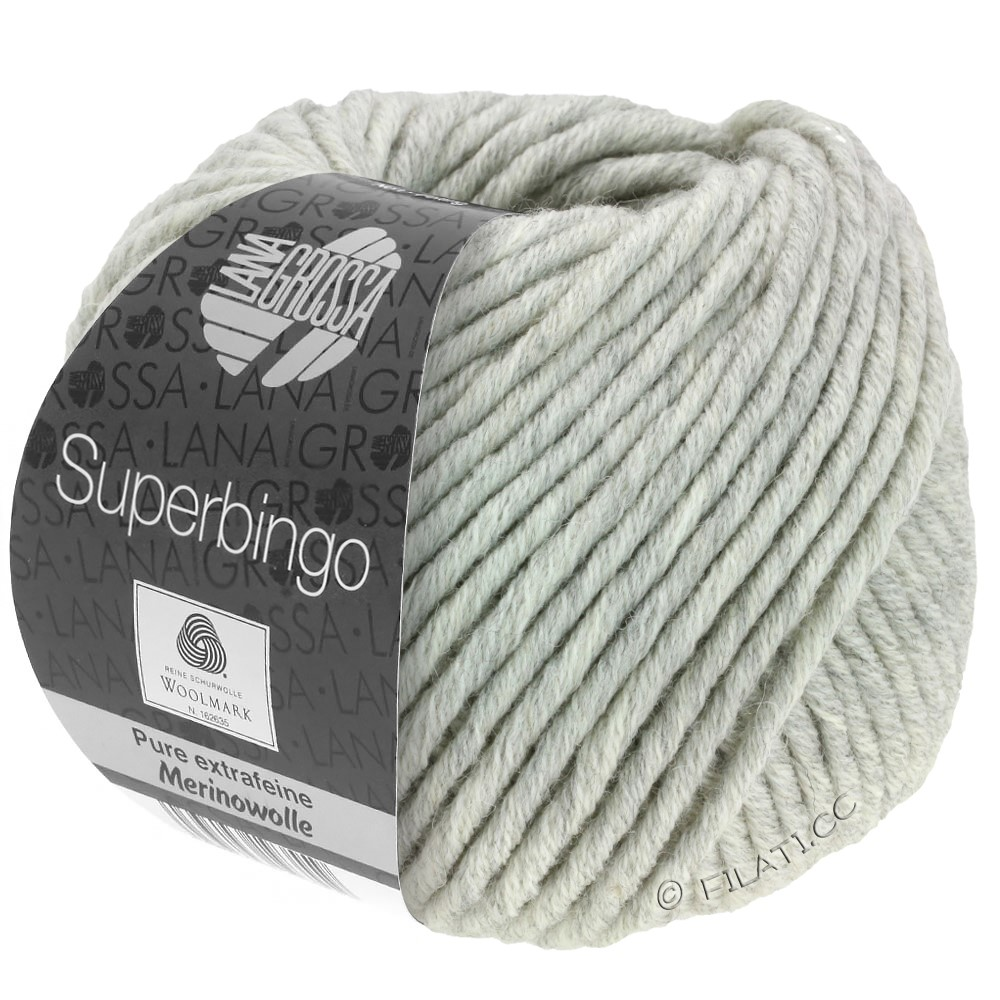 Lana Grossa SUPERBINGO uni/neon | 014-light gray mix