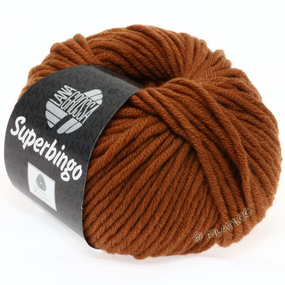 Lana Grossa SUPERBINGO uni/neon | 035-brown