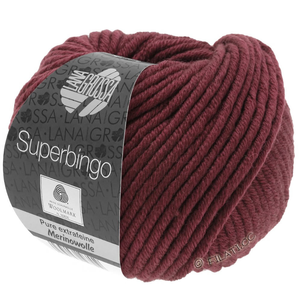 Lana Grossa SUPERBINGO uni | 038-burgundy