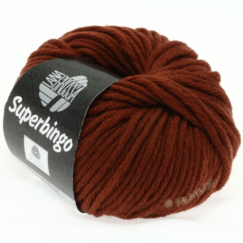 Lana Grossa SUPERBINGO uni/neon | 048-red brown