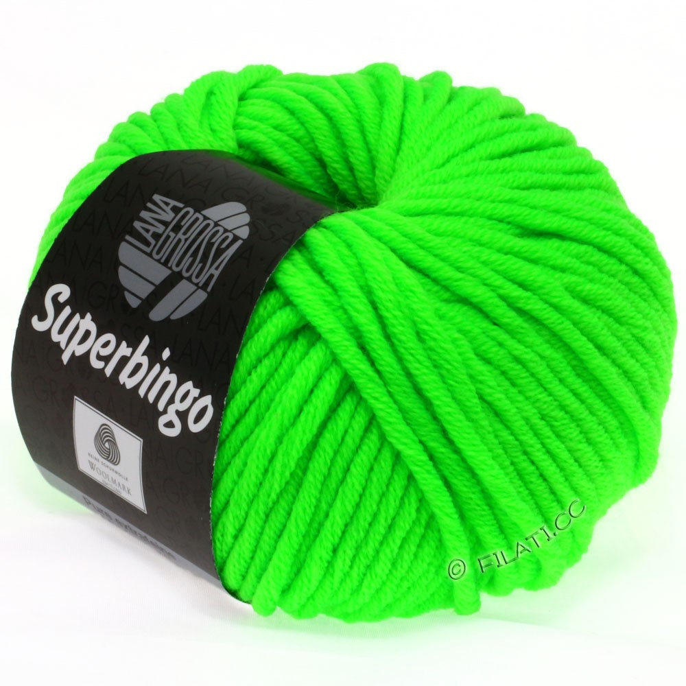 Lana Grossa SUPERBINGO uni/neon   302-neon green
