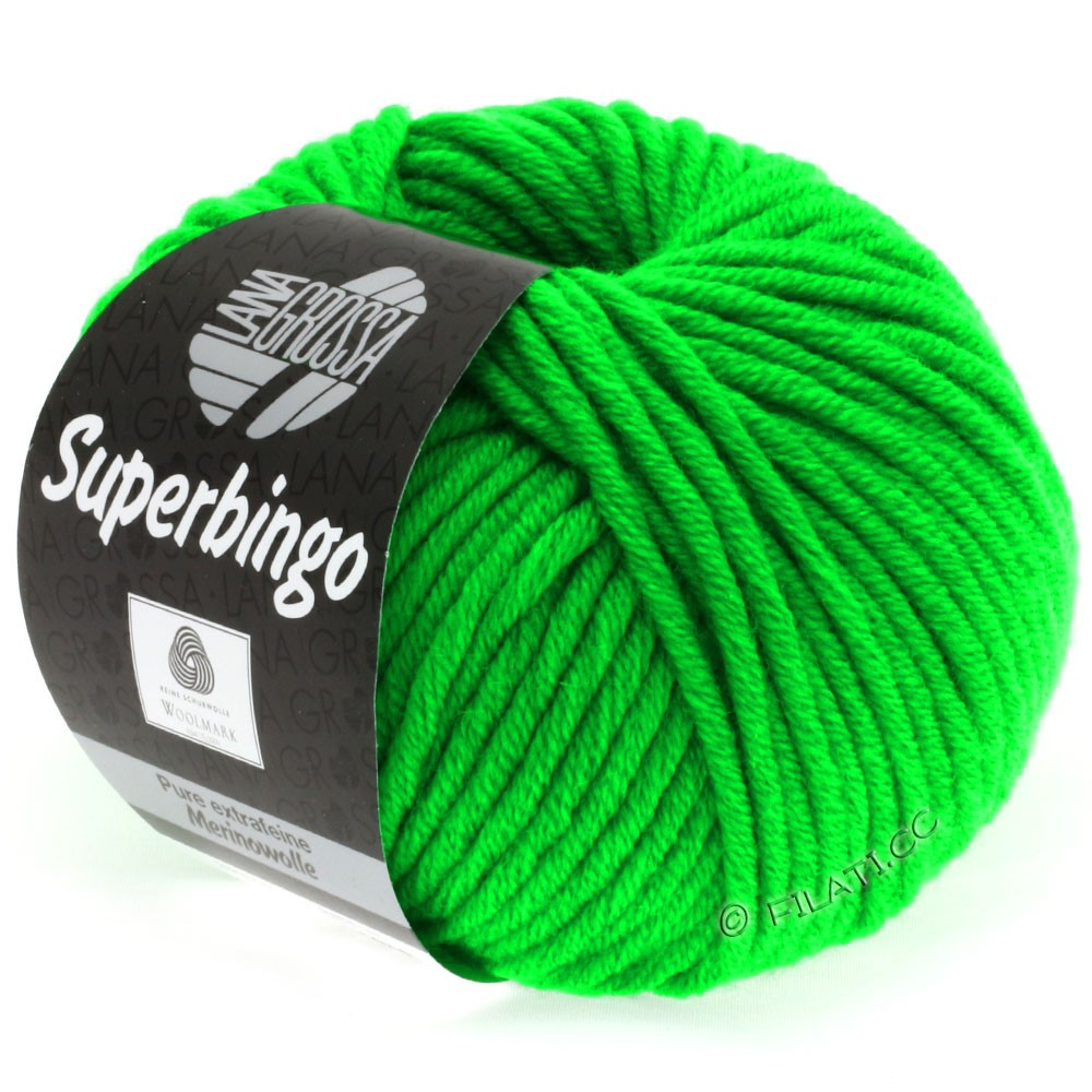 Lana Grossa SUPERBINGO uni/neon   309-neon green