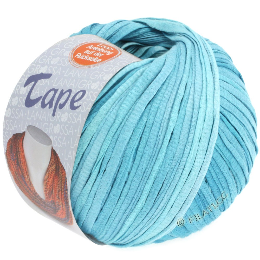Lana Grossa TAPE (McWool) | 03-subtle blue/azure blue