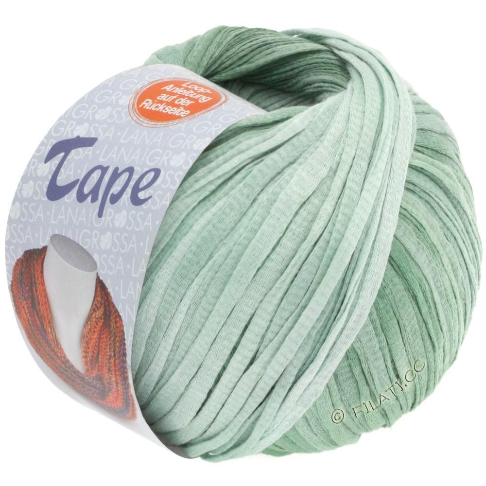 Lana Grossa TAPE (McWool)   04-mint/gray green