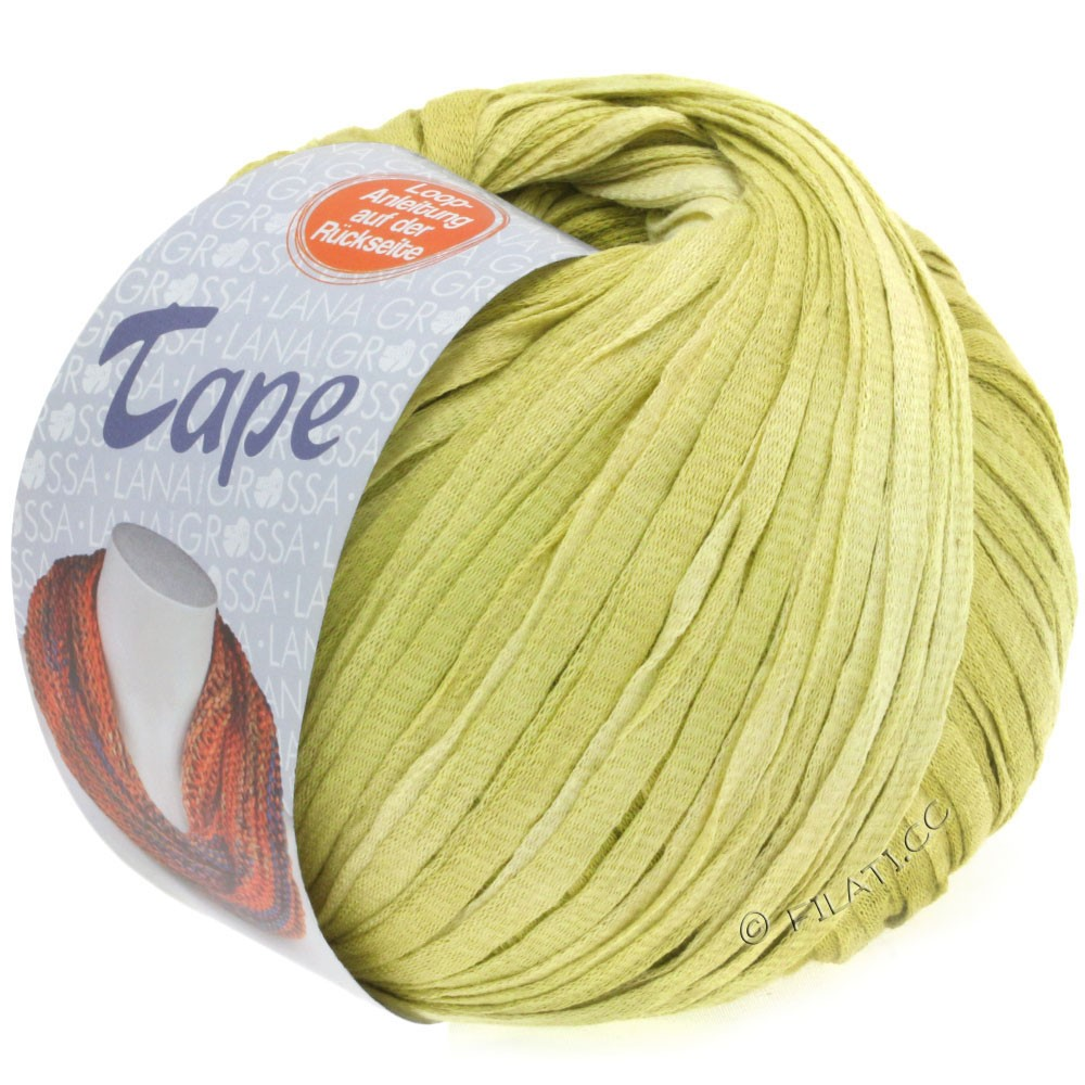 Lana Grossa TAPE (McWool) | 05-pale yellow/yellow green