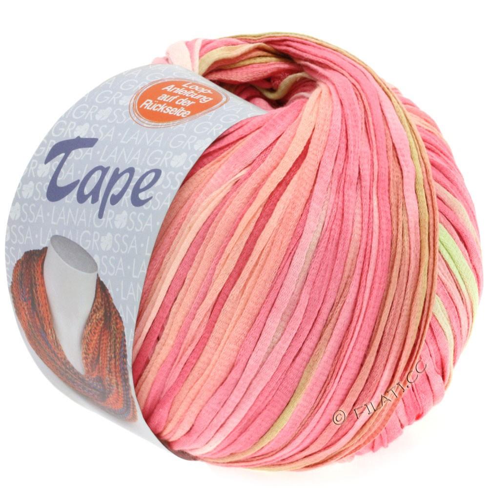 Lana Grossa TAPE (McWool) | 101-salmon pink/carnation/yellow green