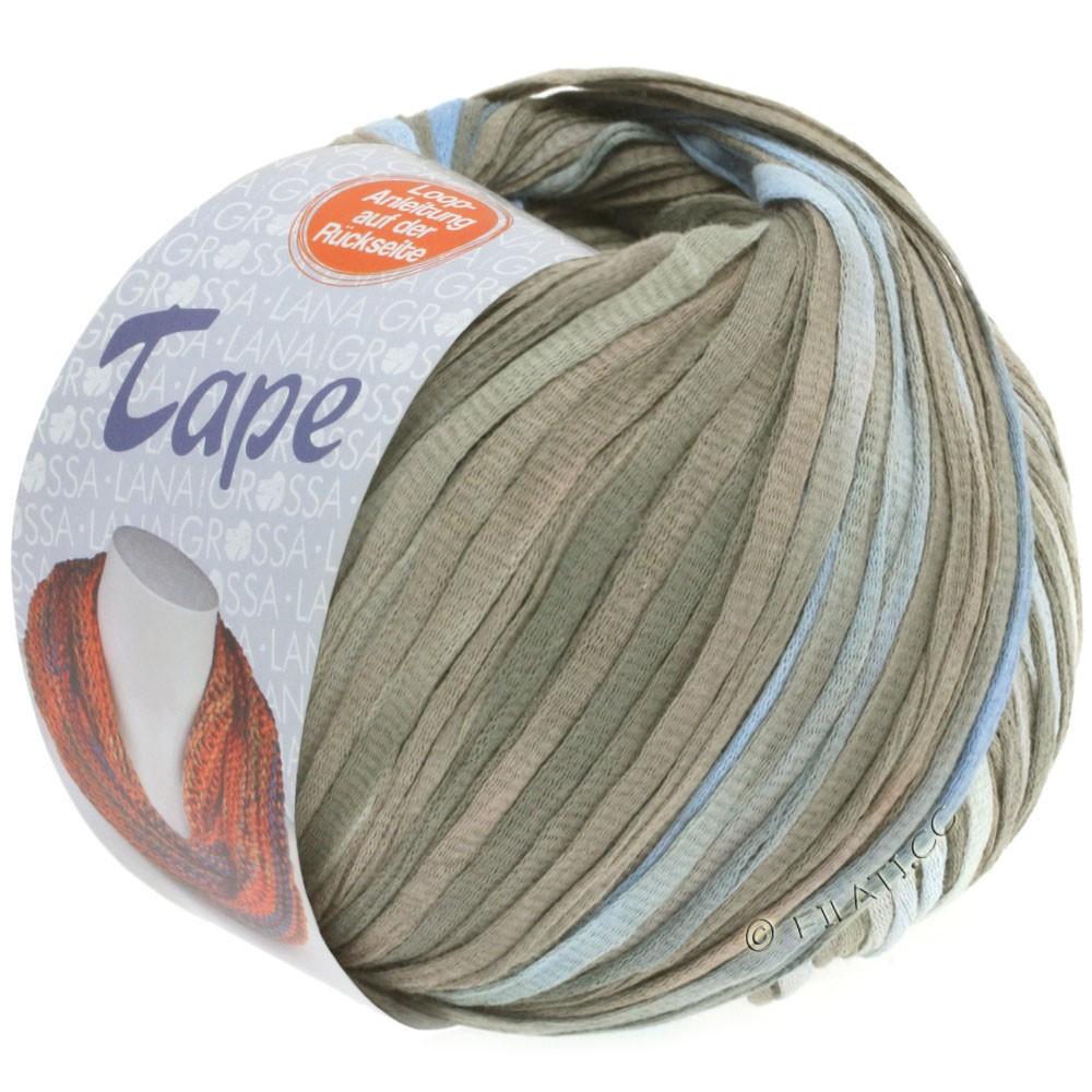 Lana Grossa TAPE (McWool) | 103-blue purple/gray