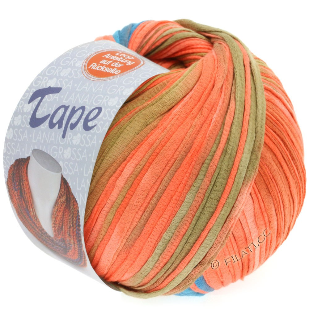 Lana Grossa TAPE (McWool) | 105-salmon/gray blue/antique pink
