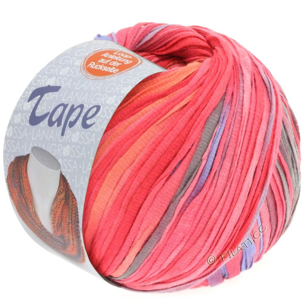 Lana Grossa TAPE (McWool) | 106-gray green/pink/orange yellow