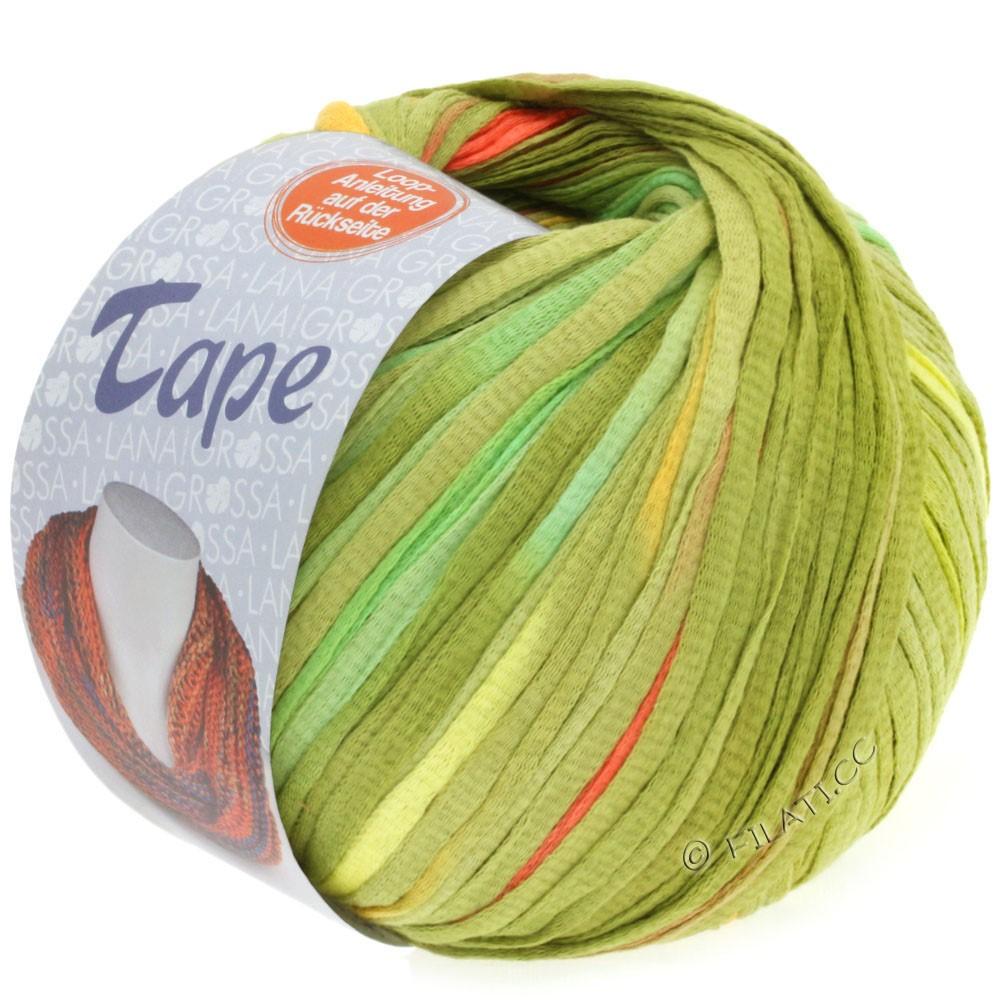 Lana Grossa TAPE (McWool) | 107-vanilla/light green