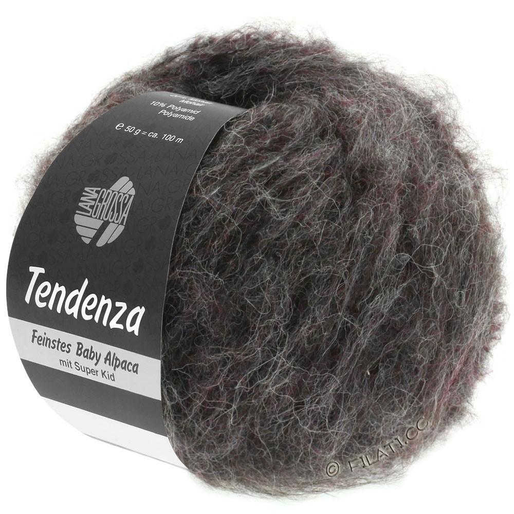 Lana Grossa TENDENZA | 004-anthracite/blackberry