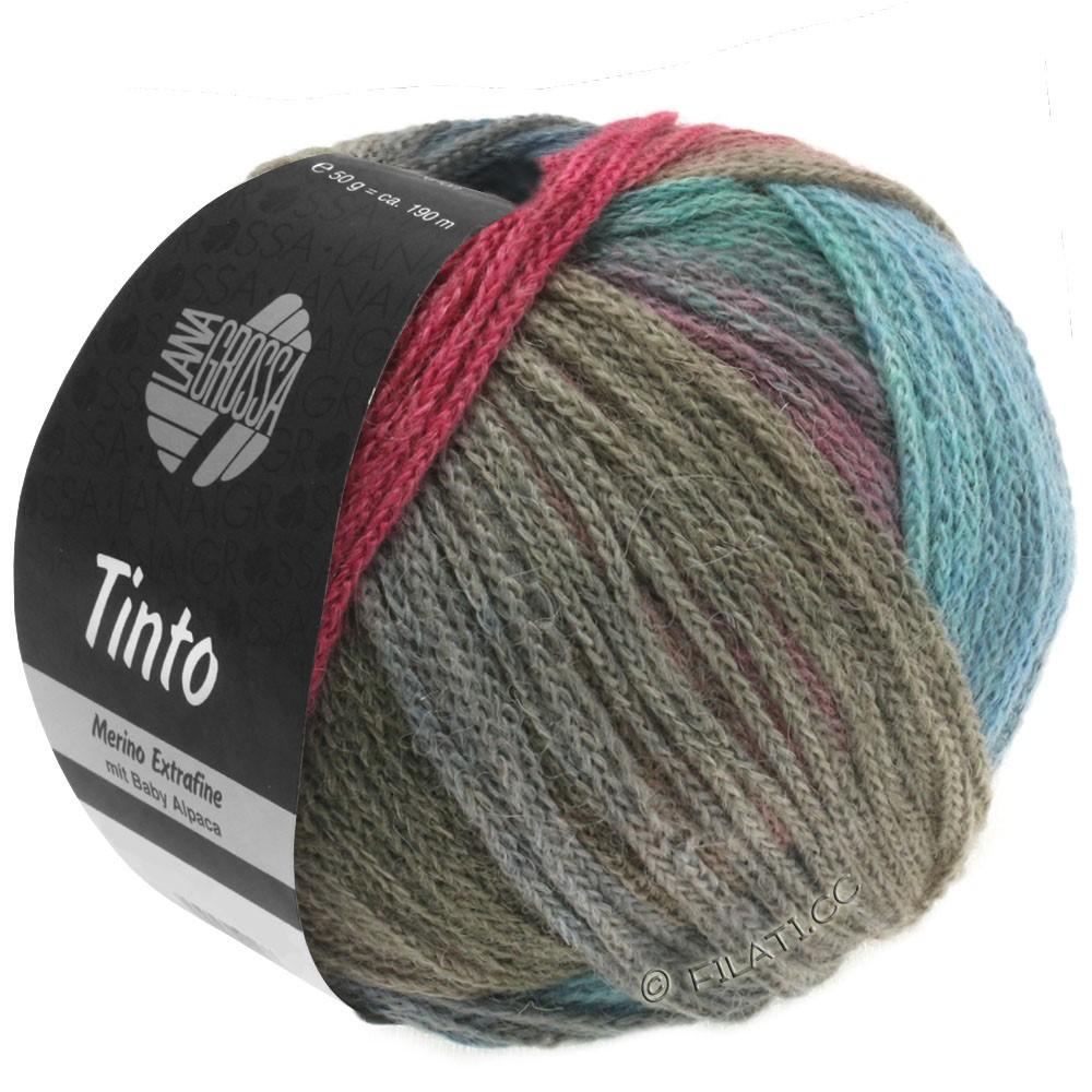Lana Grossa TINTO | 01-turquoise/berry/gray/khaki/blue
