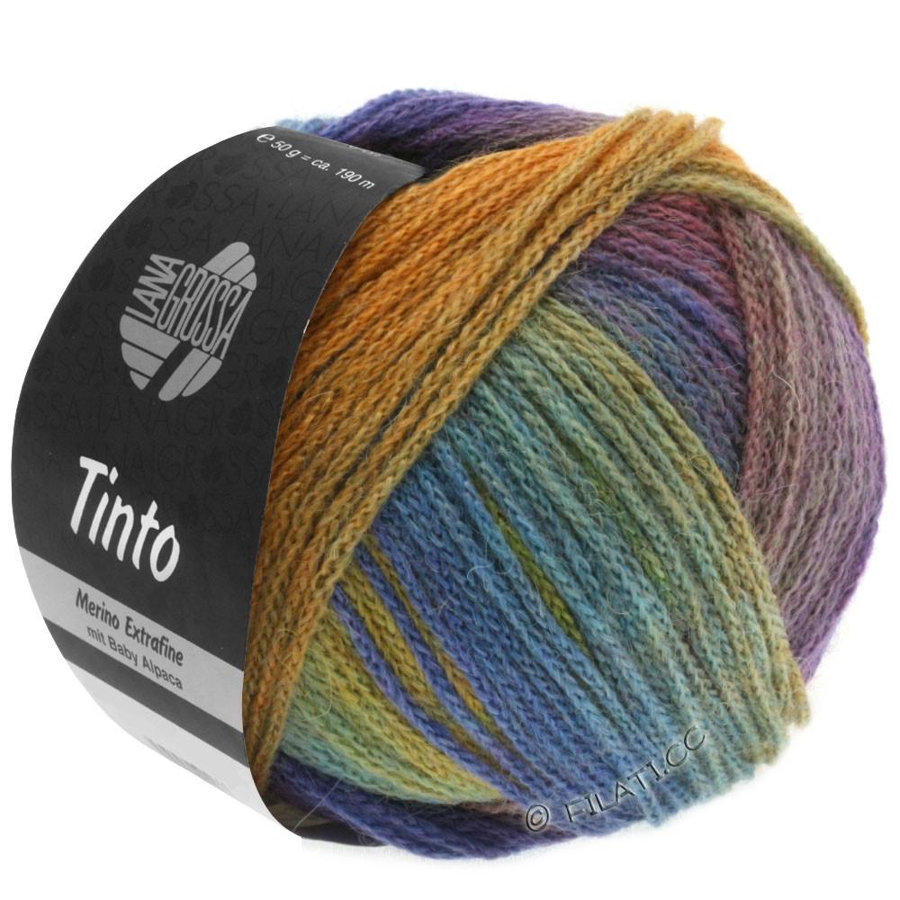 Lana Grossa TINTO | 02-mustard yellow/turquoise/blue-/redviolet/resedagreen/blue