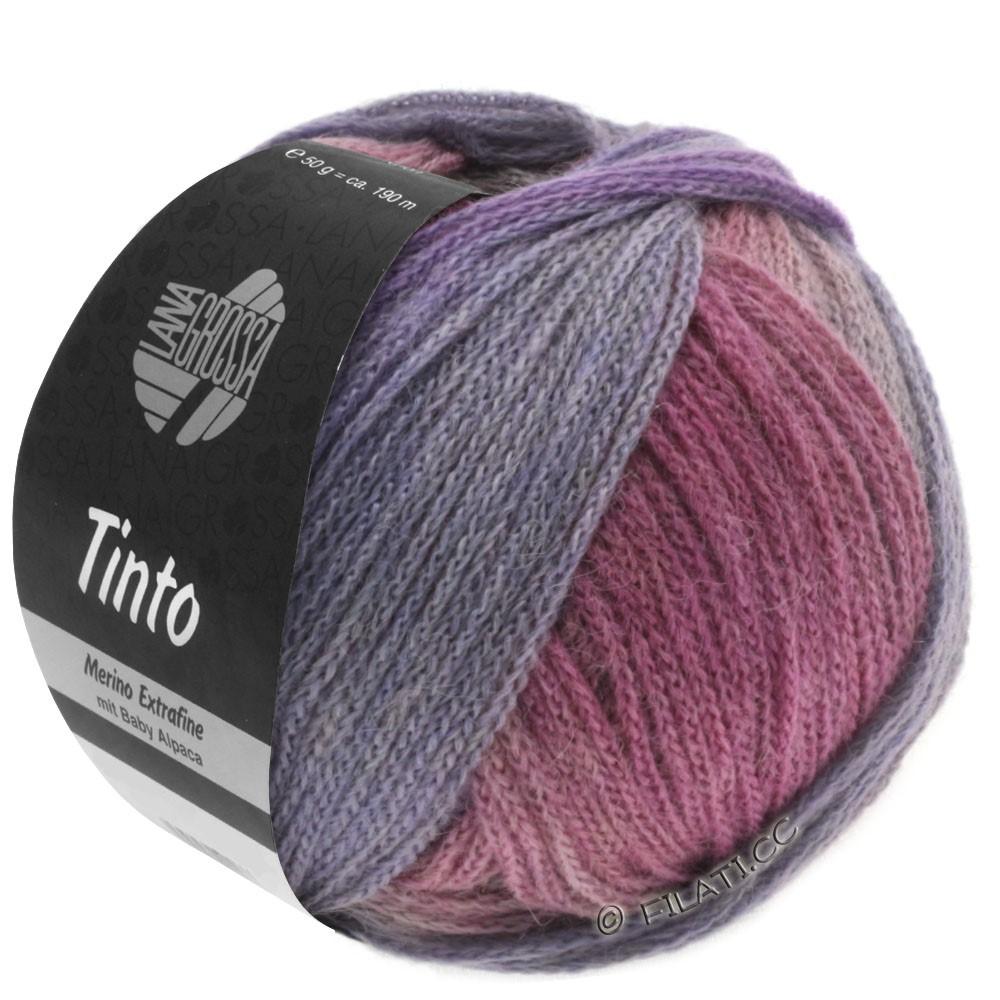 Lana Grossa TINTO | 04-red violet/pink/mud/raspberry/light gray