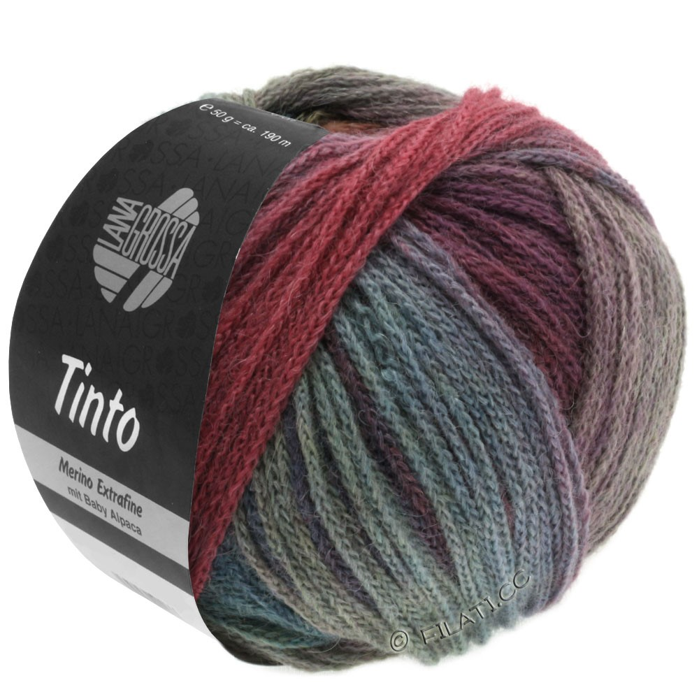 Lana Grossa TINTO | 05-red/turquoise/berry/mint/petrol/dark blue
