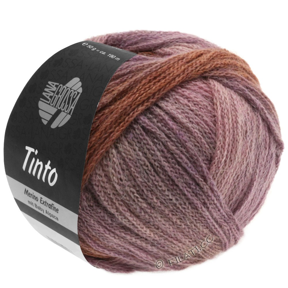 Lana Grossa TINTO | 06-sand/pink/lilac/chocolate brown/violet