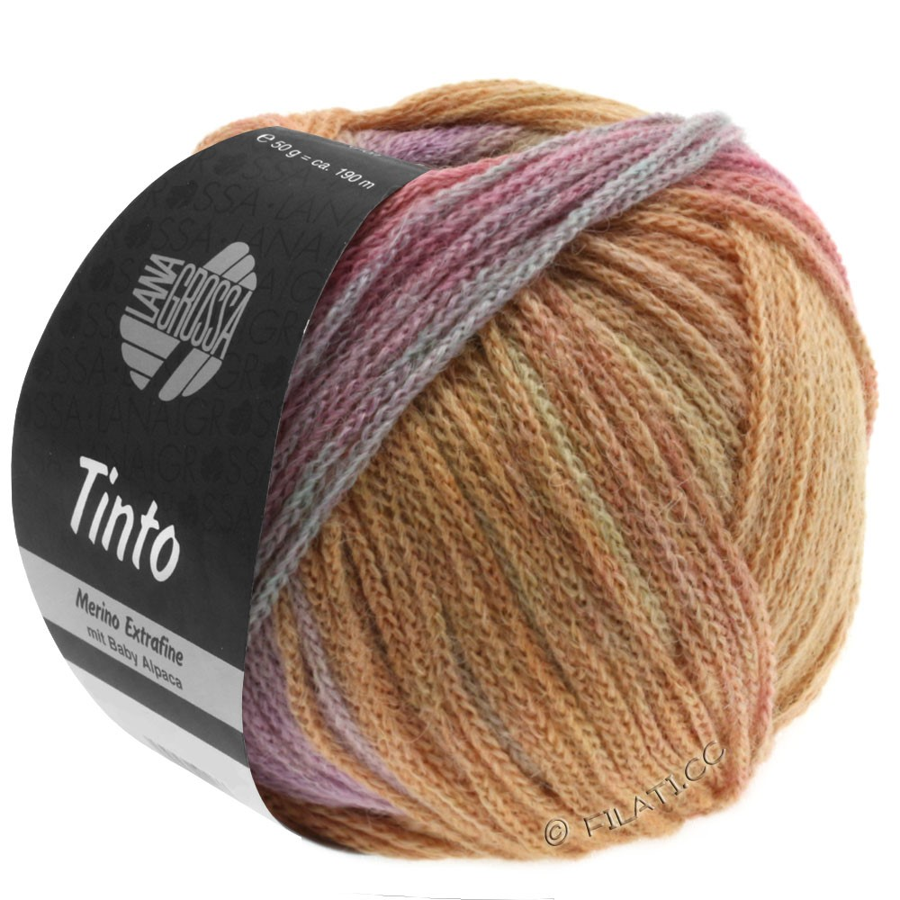 Lana Grossa TINTO | 07-pale yellow/salmon/pale turquoise/lilac/beige