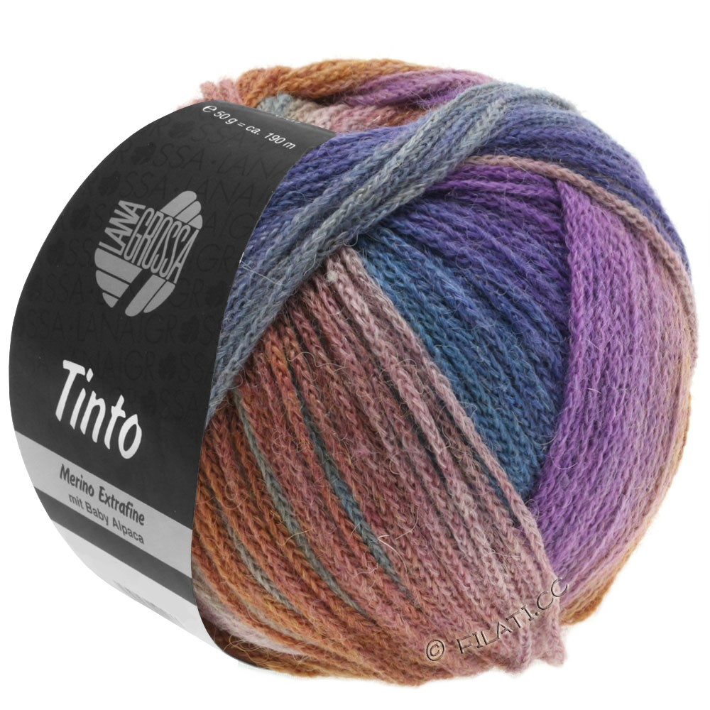 Lana Grossa TINTO | 09-light gray/reseda green/lilac/brown/petrol blue