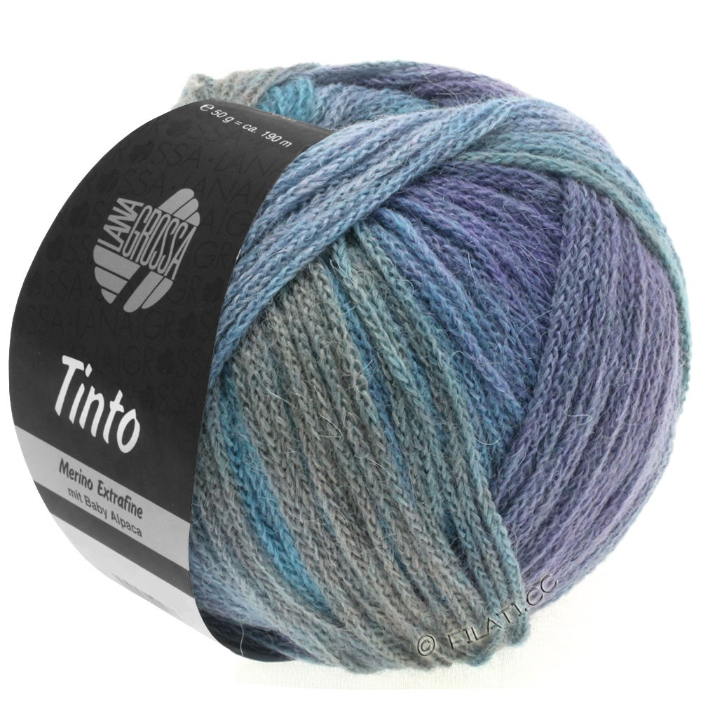 Lana Grossa TINTO | 10-light blue/light gray/blue/lilac/red brown/mint