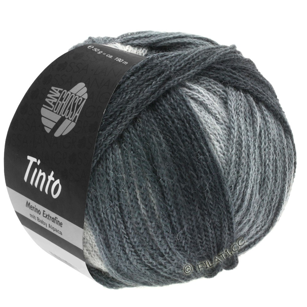 Lana Grossa TINTO | 11-light gray/medium gray/dark gray/anthracite
