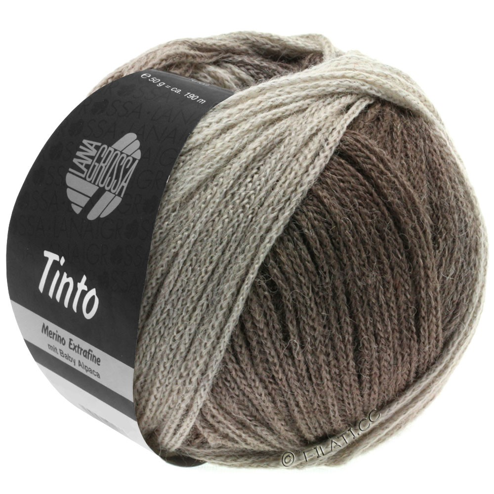 Lana Grossa TINTO | 12-grège/stone gray/gray brown/mud