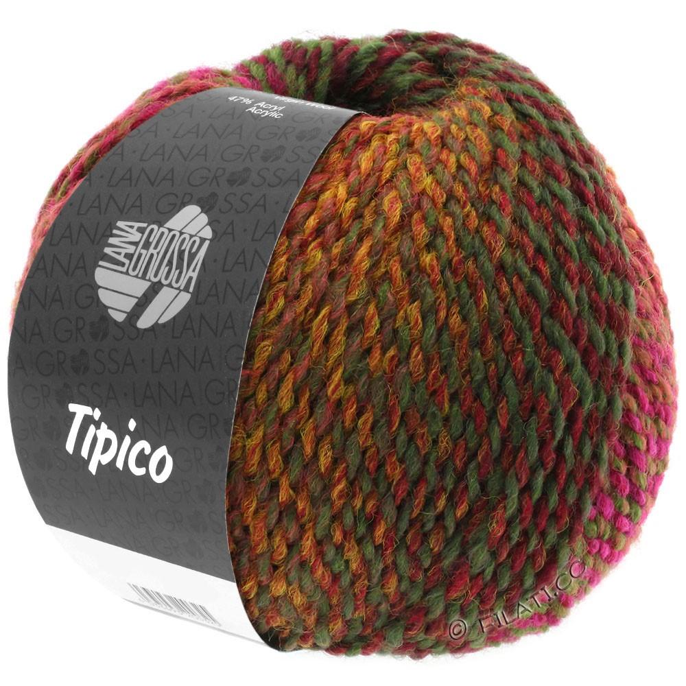 Lana Grossa TIPICO | 02-brick red/bordeaux/brown/khaki