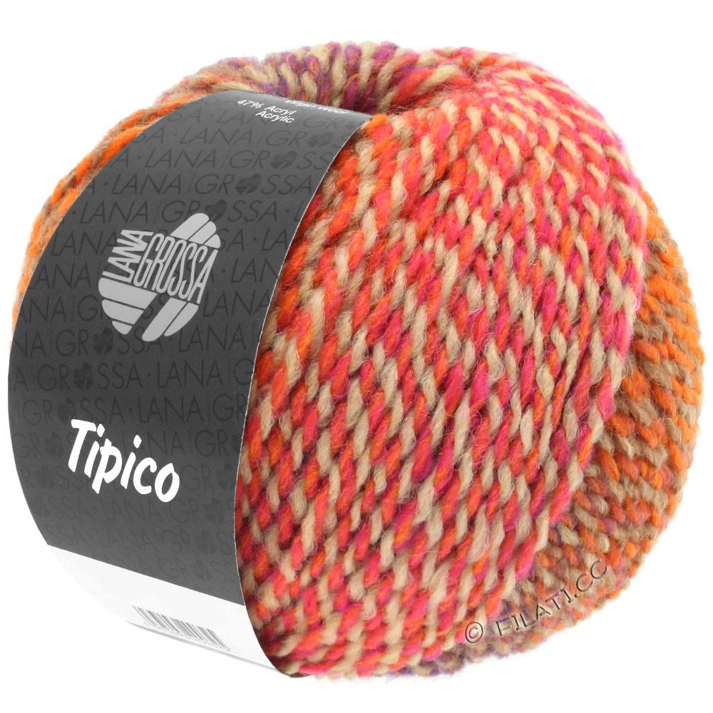 Lana Grossa TIPICO | 03-orange/camel/rose/tomato red