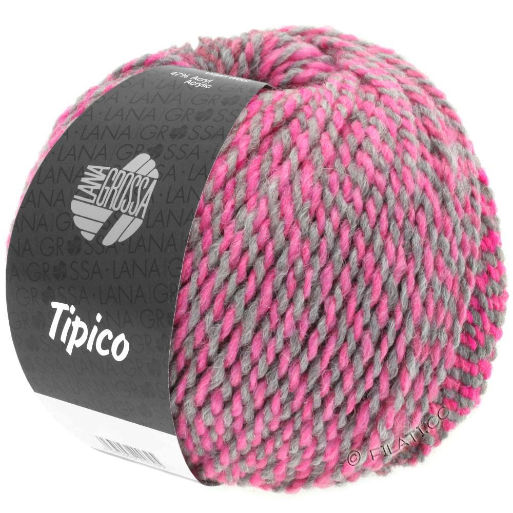 Lana Grossa TIPICO | 04-dark gray/pink/raspberry/light gray