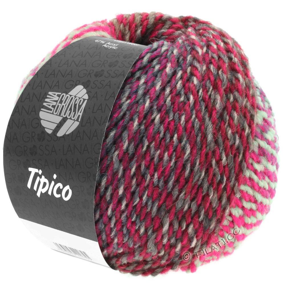 Lana Grossa TIPICO | 09-light gray/dark gray/pink