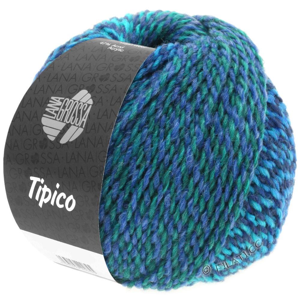 Lana Grossa TIPICO | 11-dark blue/turquoise/petrol