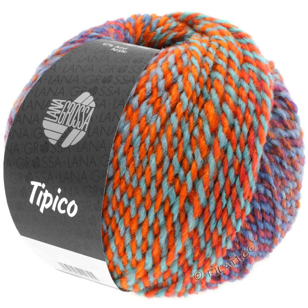 Lana Grossa TIPICO | 12-blue/rust/turquoise/orange