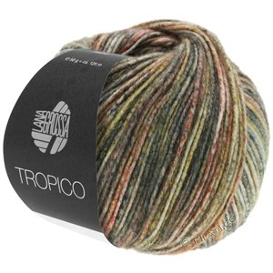 Lana Grossa TROPICO | 03-dark olive/light olive/brown/white/gray green/taupe/salmon