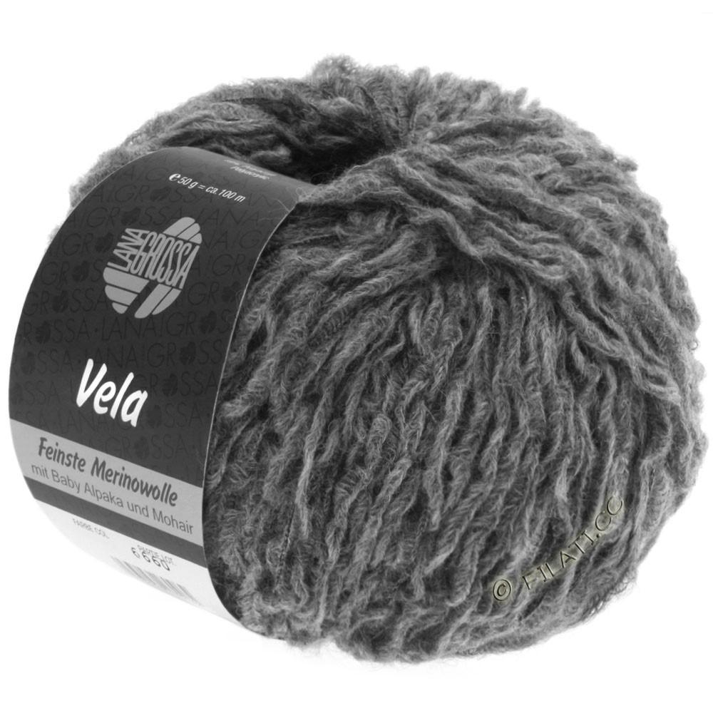 Lana Grossa VELA | 005-dark gray mottled