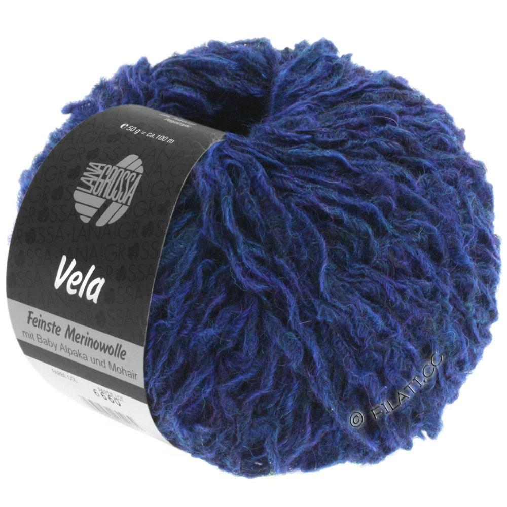 Lana Grossa VELA | 012-dark blue mottled